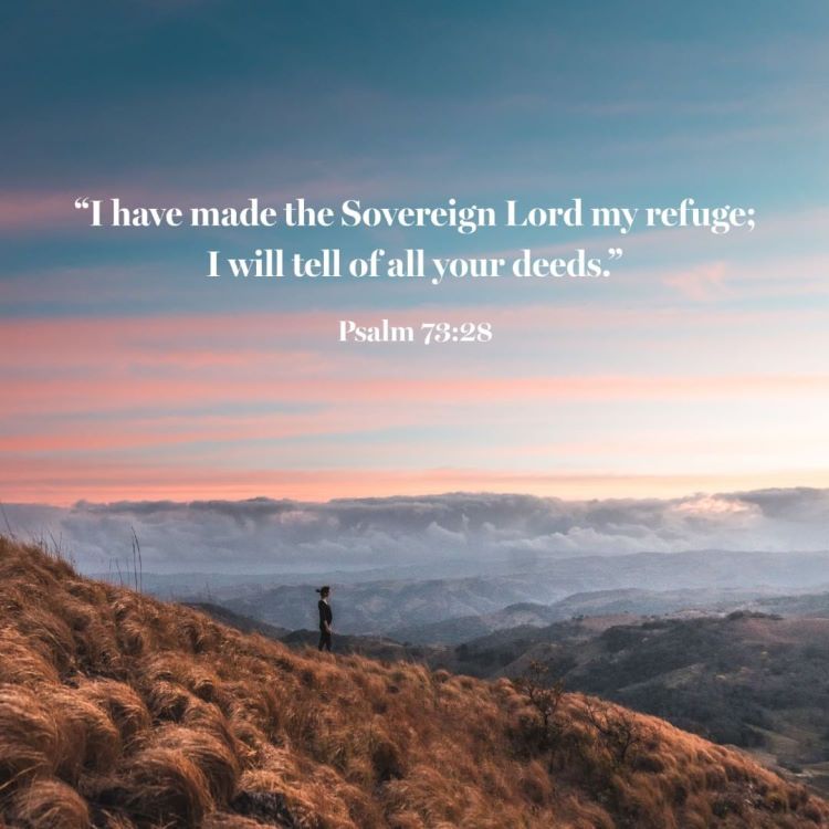 A quote from Psalms 73:28