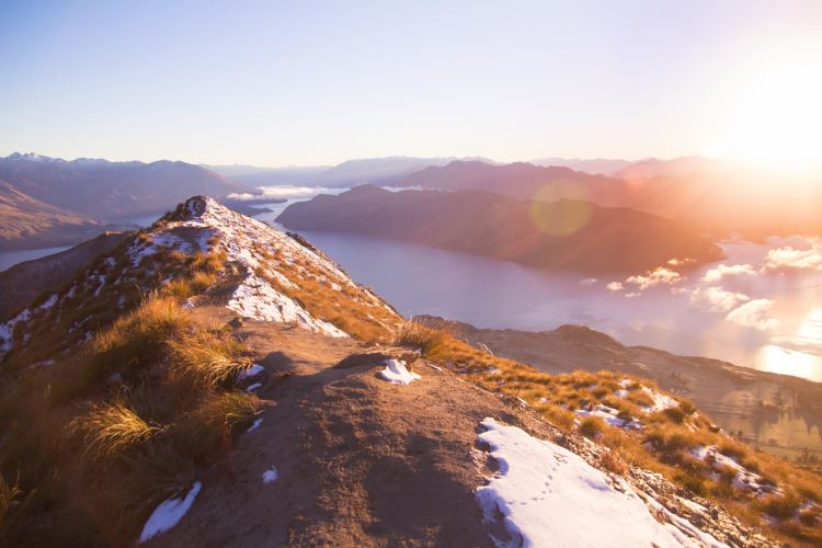 Amazing view on a mountain in New Zealand