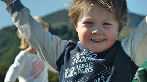 Boy smiling and having fun