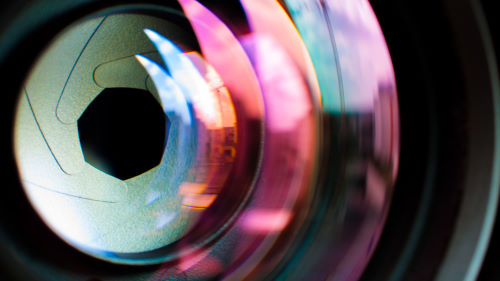The lens of a digital camera